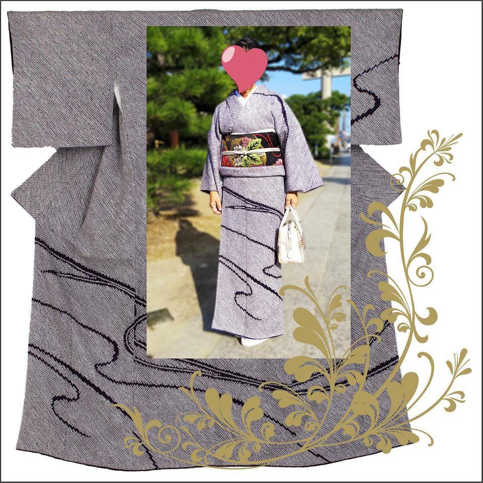 見事な京絞り訪問着に捨松の帯。抜群の組み合わせのお客様。